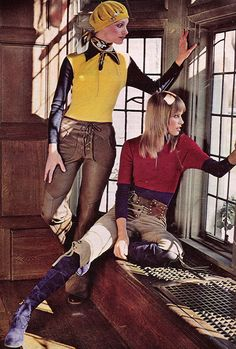 'You've got long, rangy pants, stitching-punched; cut them to your own best length.' (1971) #Seventeen