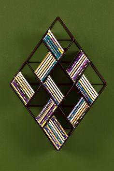 Awesome geometric shelves. -D