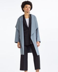 Image 2 of HAND MADE WOOL COAT from Zara
