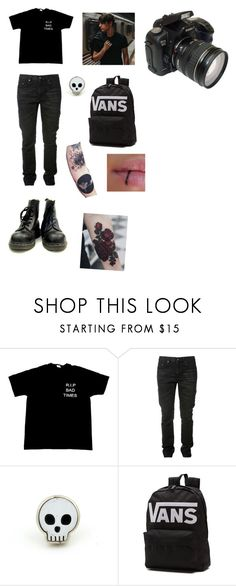 """""""I need to stop making the outfits I make for guys so emo."""" by magicmoth ❤ liked on Polyvore featuring Yves Saint Laurent, Vans, men's fashion and menswear"""