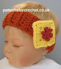 Free baby crochet pattern for newborn headband http://www.patternsforcrochet.co.uk/newborn-headband-usa.html #patternsforcrochet