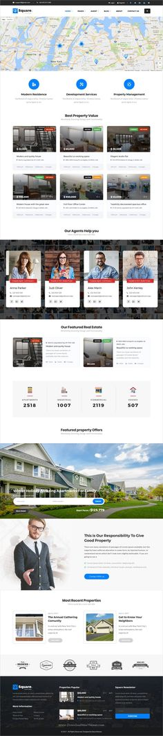 Buy Square - Real Estate WordPress Theme by Bearsthemes on ThemeForest. Square Real Estate is a complete responsive WordPress theme specially built for real estate business.