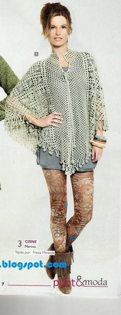 Crochet gold: Poncho! With diagram
