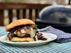 Marinated Mushroom And Swiss Burgers using Head Country seasoning and BBQ Bbq Chicken Wings, Oven Chicken, Marinated Mushrooms, Stuffed Mushrooms, Mushroom Burger, Spicy Chili, Cooking Instructions, Burger Recipes, Mushroom Recipes