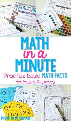 Math in a Minute by Proud to be Primary. Build your addition and subtraction math fact fluency with this comprehensive math fact program.