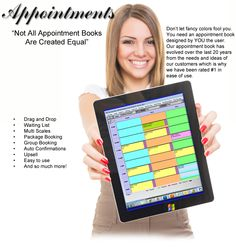 """""""Not All Appointment Books Are Created Equal"""" Our salon software appointment book is 'client created.'"""