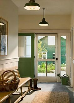 simple and lovely This is what I want. My breeze way closed in and I can open door with the screen doors there