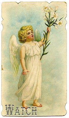 Vintage Easter card @graphicsfairy.blogspot.com