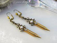BRANDAUER The Elegant Scribe Gilded Pen Nib Earrings