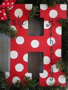 free shipping personalized letter for door hanger or wreath on Etsy, $12.50