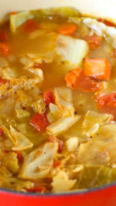 Light and Healthy Cabbage Soup ~ This cabbage soup is simple, warming, and delicious.