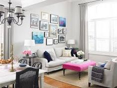 Decorate My Small Living Room. 20 New Decorate My Small Living Room. 21 Ways to Decorate A Small Living Room and Create Space Small Living Rooms, Home Living, Living Room Designs, Modern Living, Modern Couch, Living Room Accents, Living Room Decor, Pink Ottoman, Ottoman Decor