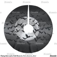 Flying Bats and a Full Moon Brushed Polyester Tree Skirt