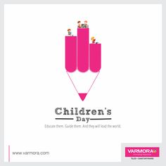 Educate them. Guide them. And they will lead the world Happy Children's Day! Children's Day Wishes, Independence Day Poster, Diwali Greetings, Happy Children's Day, National Days, Funny Posters, Indian Festivals, Child Day, Creative Advertising