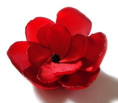 valentines day red rose love flower brooch by ayawedding on Etsy, $15.00
