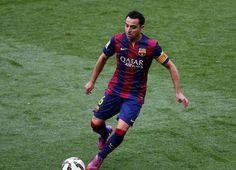 Xavi fez 1 gol e deu 1 assistência em Barça 6x0 Getafe. Único jogador além do MSN a participar de gols