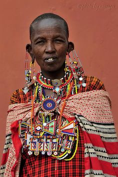 Africa |  Masai women photographed in Amboseli National Park, Kajiado District, Rift Valley Province, Kenya |  © Nawapa on flickr