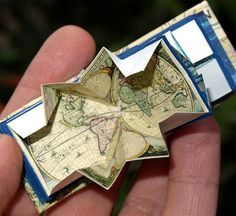 ♥ Joy Serwylo's Turkish Map Fold Book. ♥ Many other remarkable books on this site using this folding method.