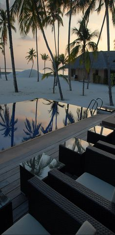 A perfect reflection in the pool at the Ka'ana Boutique Resort in the Cayo District of Belize
