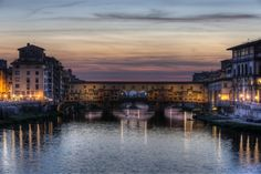 Florence, Italy - view of the Ponte Vecchio