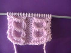 tuto point fantaisie 2 - YouTube Knitting Videos, Loom Knitting, Knitting Stitches, Baby Knitting, Knitting Designs, Knitting Patterns, Baby Vest, Knitted Gloves, Le Point