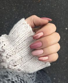 you should stay updated with latest nail art designs, nail colors, acrylic nails, coffin… - nailart Pink Gel Nails, Rose Gold Nails, My Nails, Stiletto Nails, Coffin Nails, Glitter Nails, Polish Nails, Matte Nails, Ombre Nail