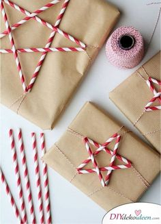Festive Brown Paper Wrapping Ideas for Christmas. You don't need fancy christmas wrapping paper this Holiday.
