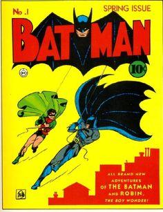 Batman comic vintage cover w// colored pages dollhouse miniature book
