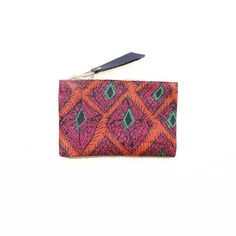 Peacock // GAIA pouches are made from vintage + repurposed fabric by resettled refugee women living in Dallas // www.gaiaforwomen.com