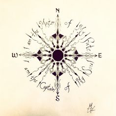 Beautiful Art Compass Drawing Soul Tattoo Compass Tattoo Beautiful Compass Drawing Beautiful Compass Tattoo Sketch Drawing Not All Those Who Compass Drawing, Compass Tattoo Design, Nautical Compass Tattoo, Feminine Compass Tattoo, Mandala Compass Tattoo, Map Compass, Body Art Tattoos, I Tattoo, Tattoo Clock