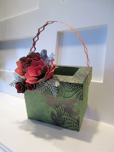 This is a chimney from SVG Cuts and I made it into a cute basket.