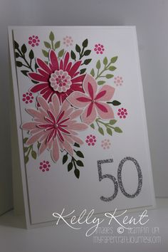 This week I had the absolute pleasure of CASEing this gorgeous Flower Patch card from Craftin' Caly. When I was showing Mr Papercraft (because he suffers through seeing most of my work!), I mention...