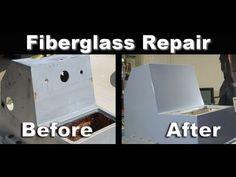 How To Boat Restoration; Fiberglass Hole Repair - YouTube #BoatPlansPontoon