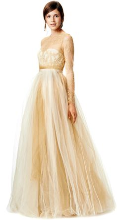 Marchesa Notte Dipped in Gold Gown on shopstyle.com