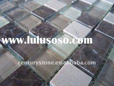 Glass Stone Mosaic Kitchen Backsplash Tile