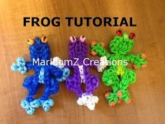▶ Rainbow Loom Frog Charm tutorial - YouTube