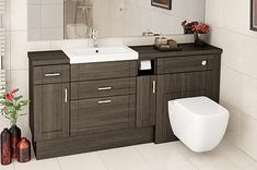 Everything about fitted bathrooms fitted bathrooms mali oak fitted bathroom furniture QKUZFRX The post Everything about fitted bathrooms appeared first on Best Pins for Yours - Bathroom Decoration Bathroom Cupboards, Bathroom Vanity Units, Small Bathroom, Bathroom Ideas, Bathroom Design Inspiration, Bad Inspiration, Fitted Bathroom Furniture, Fitted Bathrooms, Downstairs Toilet
