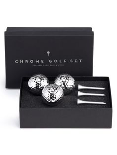 Your dad's Sunday afternoon is getting a serious upgrade come spring. Chrome golf set, $19.95; ZGallerie.  Courtesy of the Company   - Redbook.com