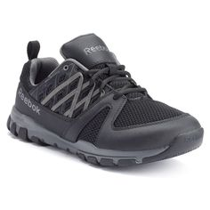 Reebok Work Sublite Work Men's Athletic Shoes, Size: 9.5 Wide, Black