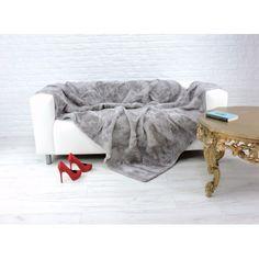 Real lambskin fleece throw blanket Fur Throw, Fleece Throw, Ottoman, Blanket, Chair, Luxury, Bed, Furniture, Home Decor