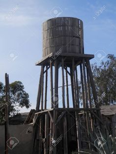 Water Tower, Old West, Ghost Towns, Birds In Flight, Abandoned, Fair Grounds, Exterior, Stock Photos, Architecture