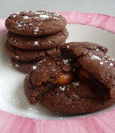Chocolate Pudding Cookies.  Made these as directed with chocolate chips.  Also drizzled with salted caramel...might be the best cookies I have ever made.