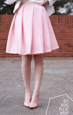 DIY: pleat wrap skirt