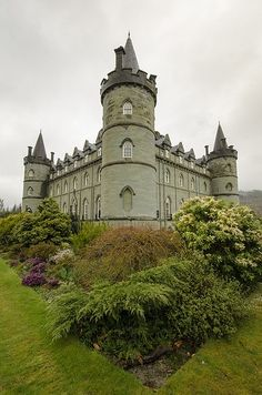 Inveraray Castle, Scotland, home to the Duke of Argyll, is a mid century mostly neo-gothic architecture. The castle is surrounded by a 16 acre garden. The Estate is acres. Beautiful Castles, Beautiful Buildings, Beautiful Places, Scotland Castles, Scottish Castles, Castle Ruins, Castle House, Medieval Castle, Inveraray Castle