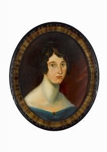 Patrick Branwell Brontë - Portrait In Oils Of Maria Taylor Of Stanbury