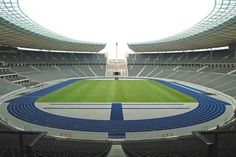 The Berlin Olympiastadion. Inside view of the Berlin Olympiastadion , Olympia, Berlin Festival, Berlin Olympics, Best Jigsaw, Football Stadiums, Baseball Field, Golf Courses, Soccer, Around The Worlds