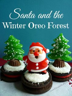Santa and the Winter Oreo Forest - SweetSimpleStuff.com