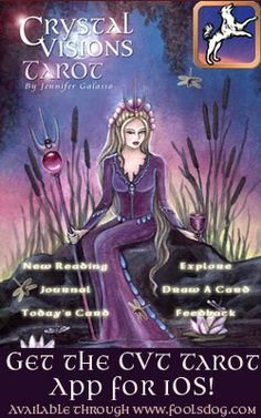 Crystal Visions Tarot by Jennifer Galasso. I love the illustrations in this deck - one of my favourite tarot decks at the moment.