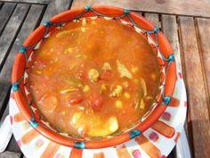 Soupe marocaine à l'agneau et aux pois chiches