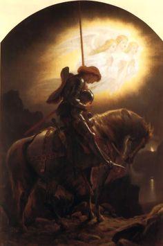 Sir Joseph Noel Paton (1821 – 1901), Sir Galahad's Vision of the Holy Grail (Date unknown).  vita detestabilis